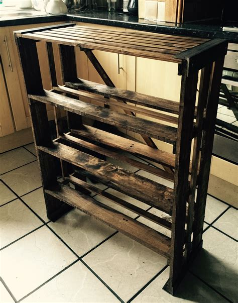 DIY Pallet Boot Rack