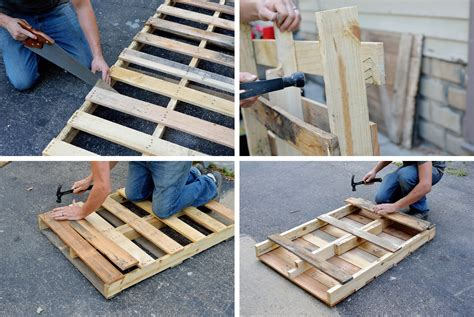 DIY Pallet Table Legs