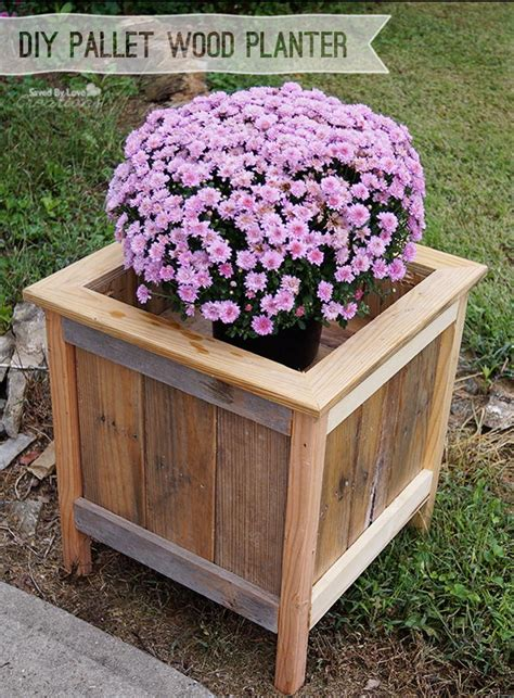 DIY Pallet Wood Planter Boxes
