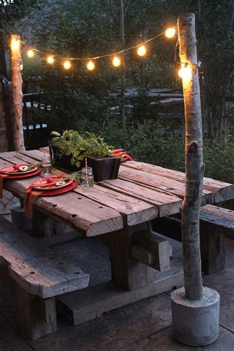 DIY Patio Table With Lights