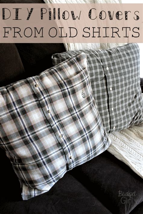 DIY Pillow Covers From Shirt