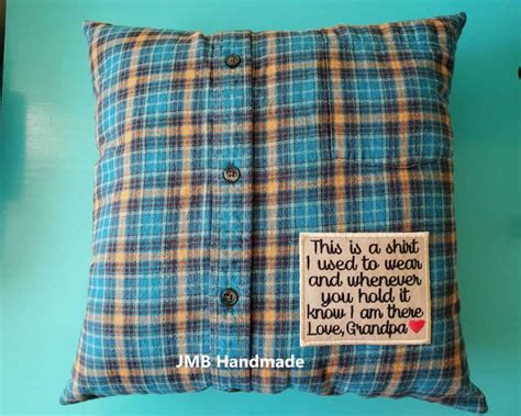 DIY Pillows Out Of Shirts