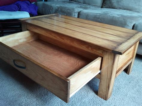 DIY Plans For A Coffee Table With Drawers