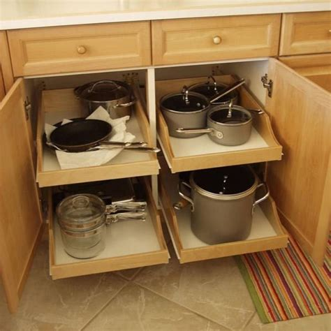 DIY Pull Out Rolling Cabinet Shelves