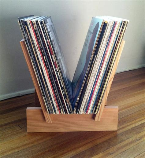 DIY Record Storage Rack