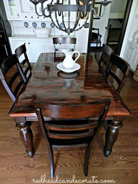DIY Refinish Dining Table