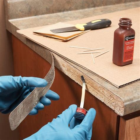 DIY Repairs On Laminate Table Top