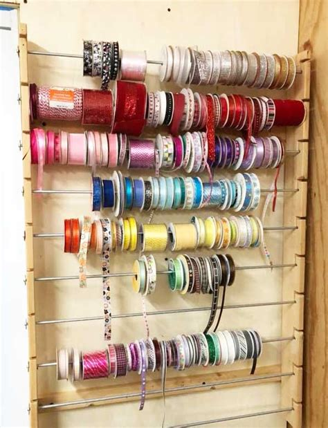 DIY Ribbon Rack