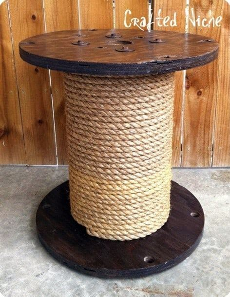 DIY Rope End Table