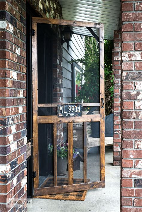 DIY Screen Door Interior