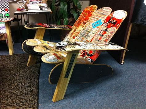 DIY Skateboard Furniture