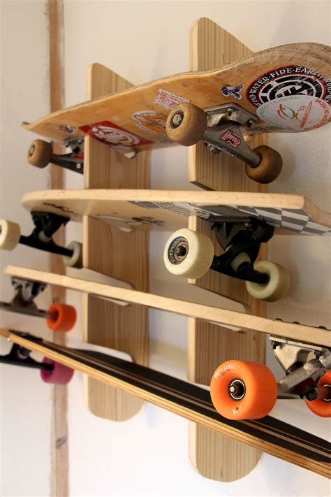 DIY Skateboard Wall Rack