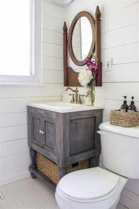 DIY Small Bathroom Vanity Plans