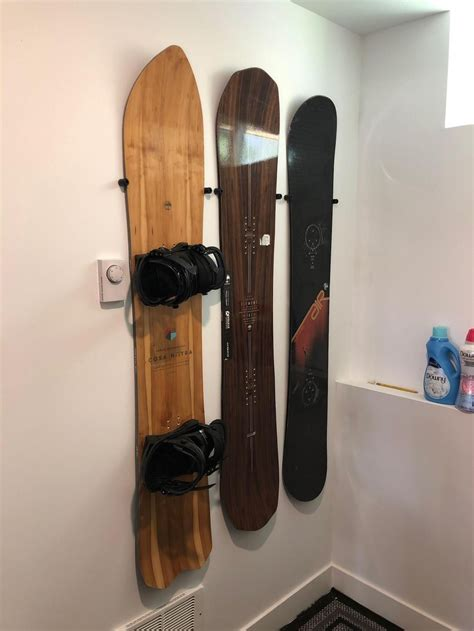 DIY Snowboard Wall Rack