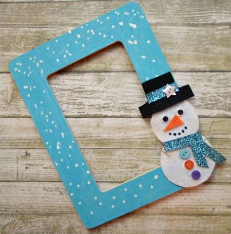 DIY Snowman Picture Frame