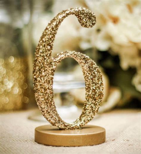 DIY Sparkly Table Numbers