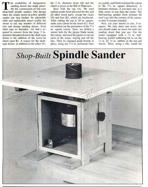 DIY Spindle Sander Plans For Building