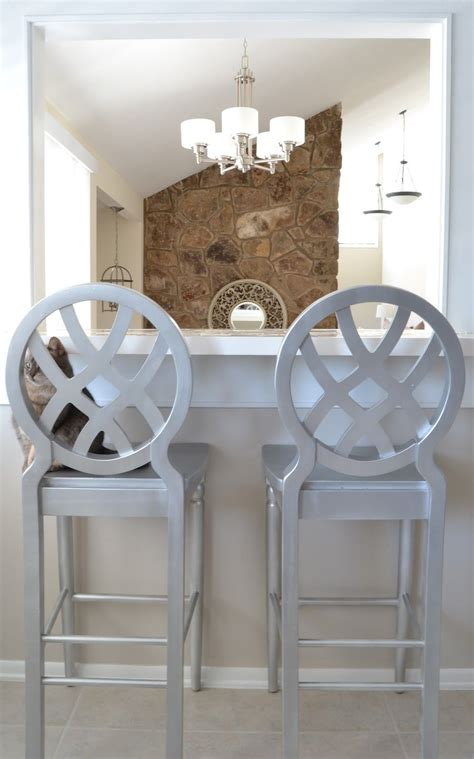 DIY Spray Paint Bar Stools