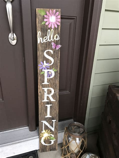 DIY Spring Wood Signs
