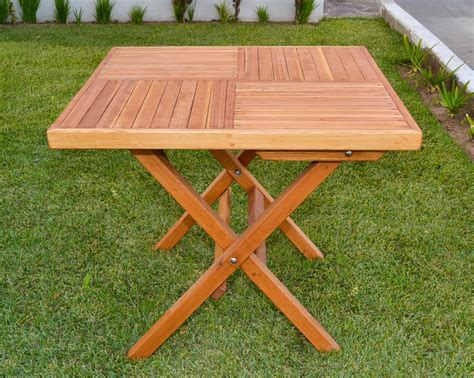 DIY Square Wooden Folding Table