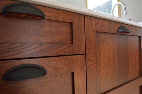 DIY Staining Old Kitchen Cabinets