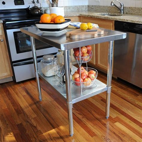DIY Stainless Steel Kitchen Table