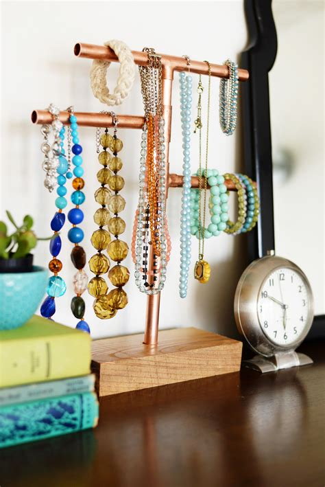 DIY Standing Jewelry Stands