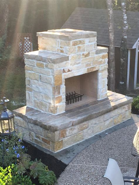DIY Stone Outdoor Fireplace Plans