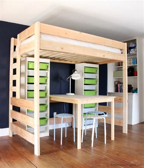 DIY Storage Loft Bed