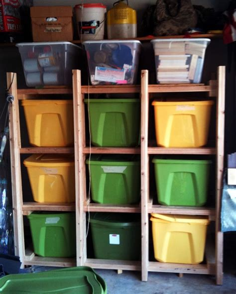 DIY Storage Racks For Plastic Totes