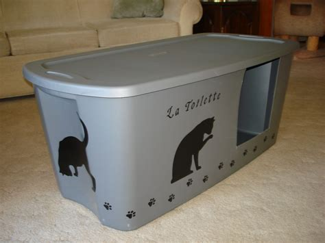 DIY Storage Tote Litter Box