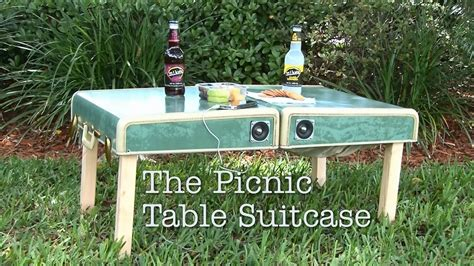 DIY Suitcase Picnic Table