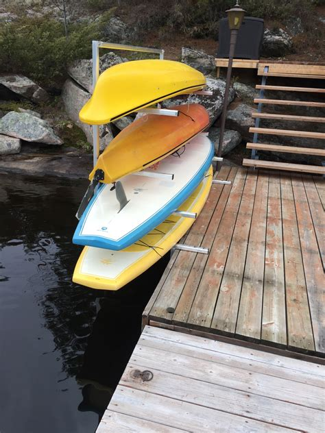 DIY Sup Dock Rack