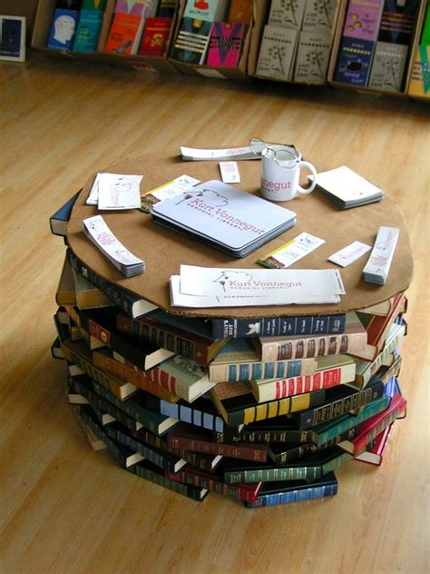 DIY Table Made Out Of Books
