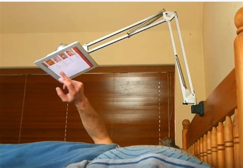 DIY Tablet Stand For Bed