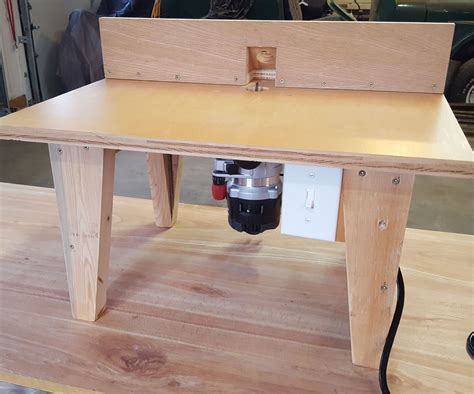 DIY Tabletop Routing Table