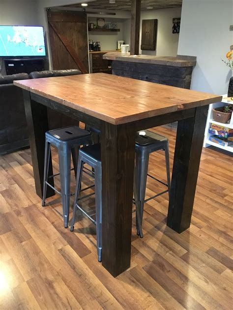 DIY Tall Bar Table
