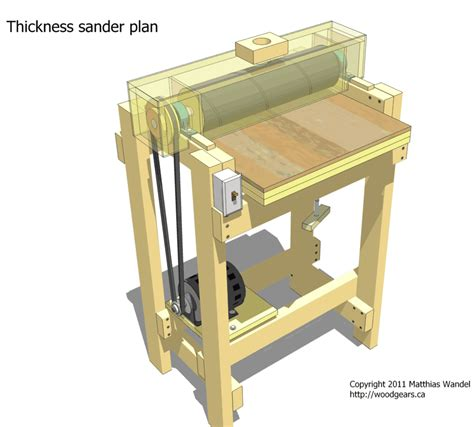 DIY Thickness Sander Plans For Houses