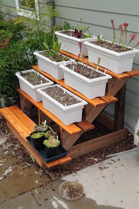DIY Tiered Plant Stands Outdoor