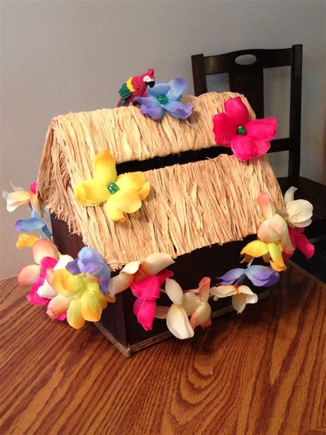 DIY Tiki Hut Card Box