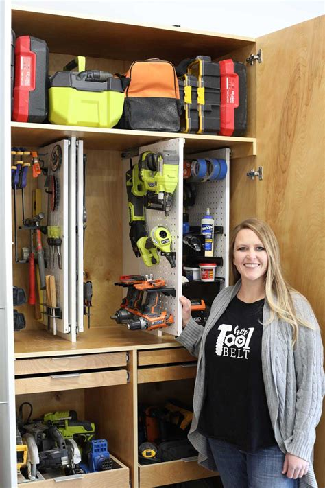 DIY Tool Storage Cabinet Images
