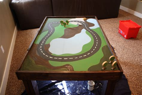 DIY Train Table Paint