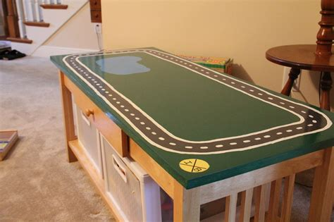 DIY Train Table Topper