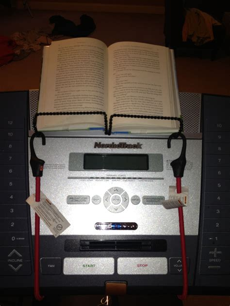 DIY Treadmill Book Stand