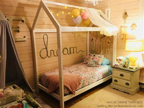 DIY Twin Bed Frame House