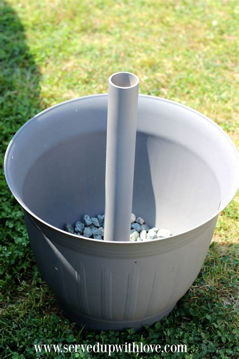 DIY Umbrella Stand Using Potted