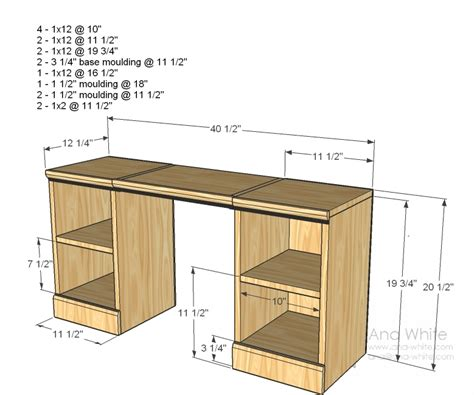 DIY Vanity Table Plans Woodworking