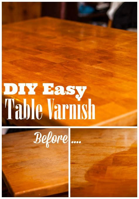 DIY Varnish Table