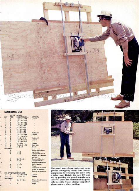 DIY Vertical Panel Saw Plans