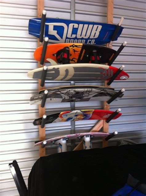 DIY Wakeboard Rack Garage